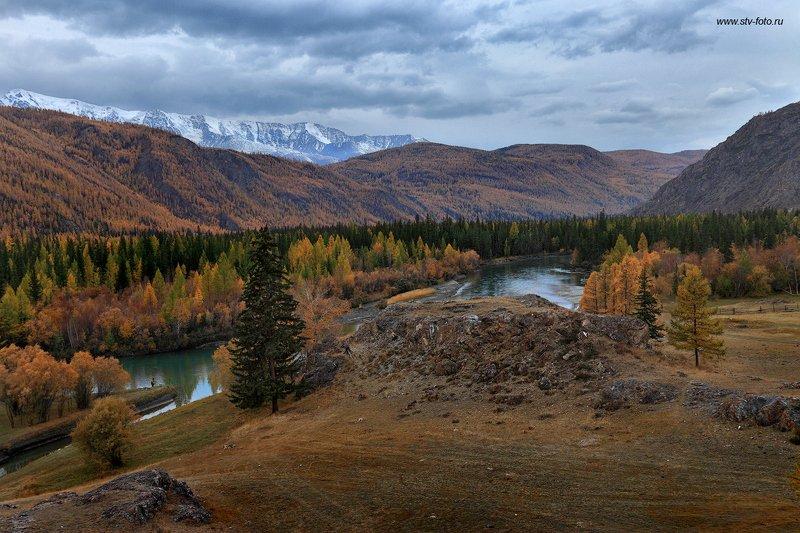 природа, пейзаж, осень, лес, горы, облака, облачность Осень, осень...photo preview