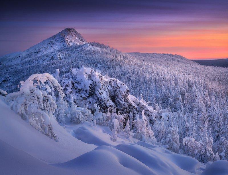 урал, таганай, зима, горы Таганайское утроphoto preview