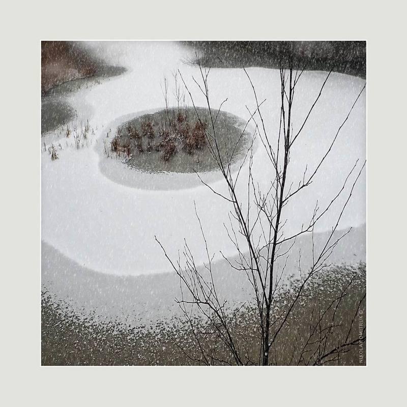 пейзаж снежный день. 2020photo preview