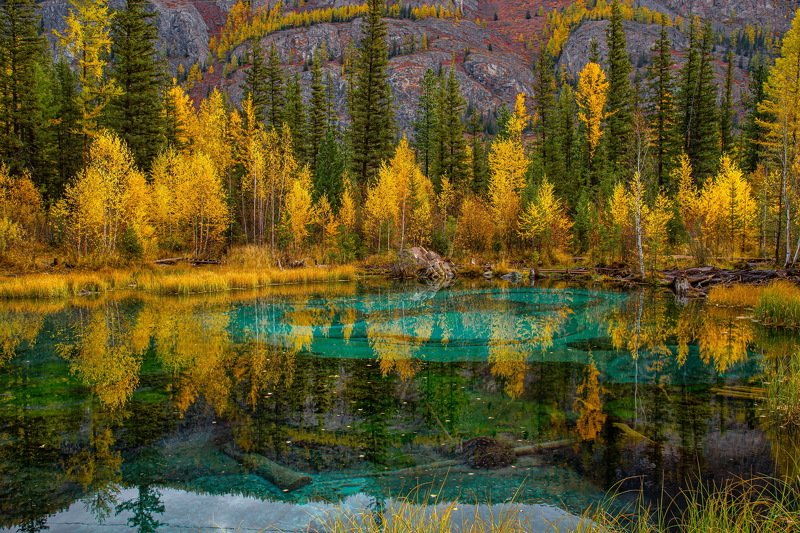алтай. осень. горы. Гейзеровое  озероphoto preview