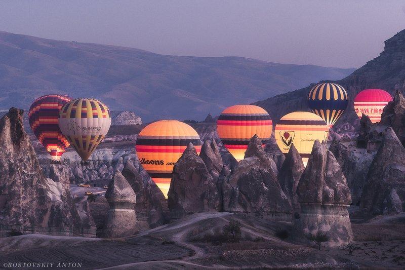 Каппадокия, Турция, шары, утро, Cappadocia, фототур,  Утро в Каппадокииphoto preview