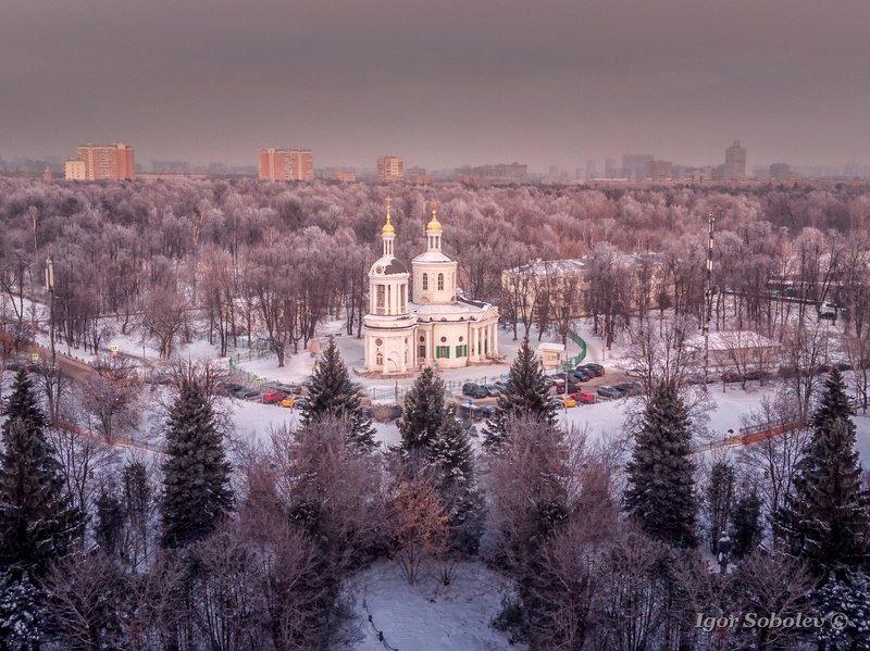 москва, кузьминки, зима, аэросъемка Зимние Кузьминкиphoto preview