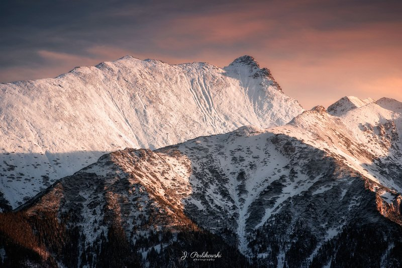 winter, snow, mountains,sunset, colours, landscape, shadows, lights, Winter in mountainsphoto preview