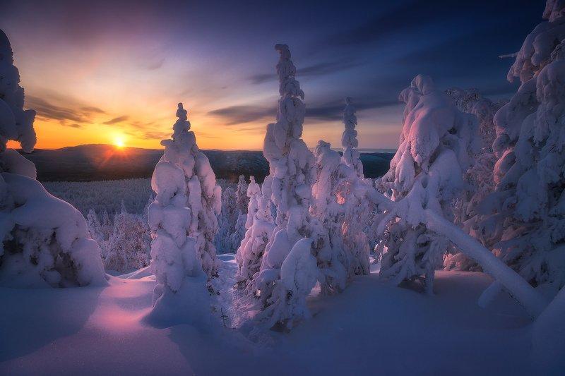 таганай, урал, горы, зима Рассвет на Митькиных скалахphoto preview