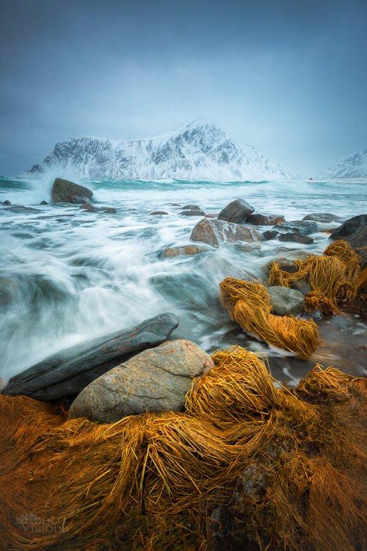 lofoten,winter,wave,coast,shore,sea,skagsanden,nature, Wintertime on the Northphoto preview