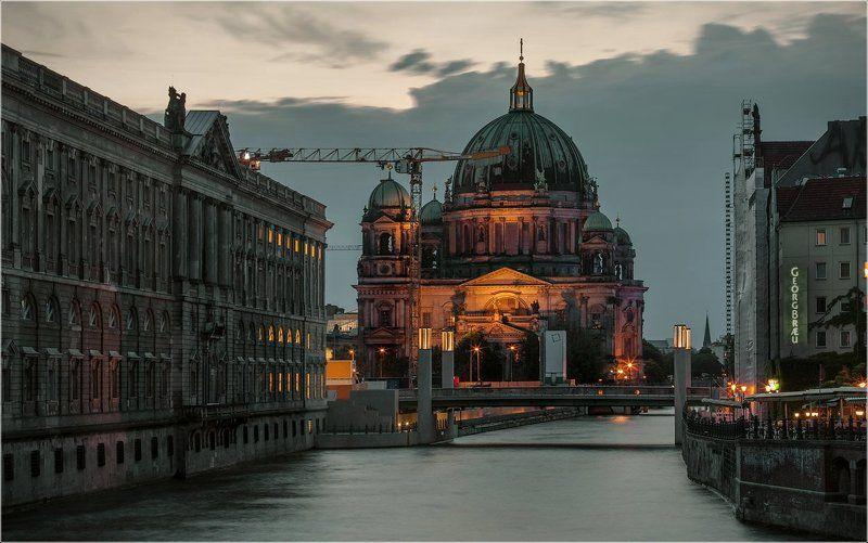 Berliner Dom, Foto liubos, Берлин, Вечер, Германия Вечер на Шпрее, Берлин, вчерашний вечерphoto preview