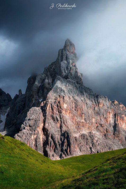 dolomites, dolomiti, mountains, itally, sunset, clours, contrast, summer, mountainscape, cloudy, rainy Dolomitesphoto preview