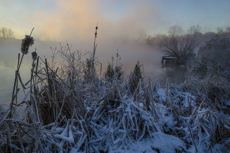 утро, зима, озеро, горячка, косая гора Озеро Горячка. Зимний колоритphoto preview
