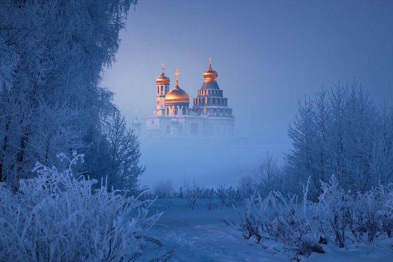 истра, новоиерусалимский монастырь, мороз, иней, туман Золото Истрыphoto preview