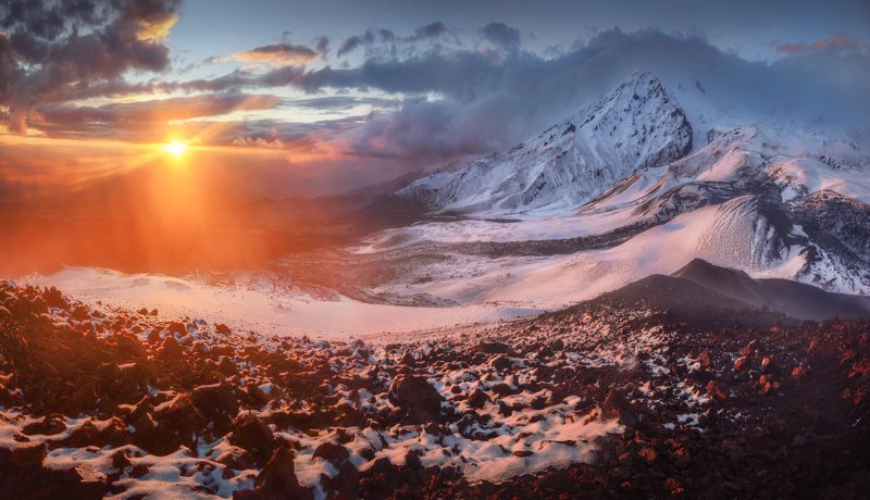 камчатка Камчатка. Панорама вулкана Толбачик.photo preview