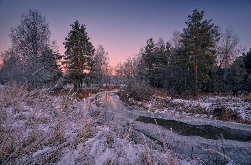Краски зимнего рассвета ...photo preview