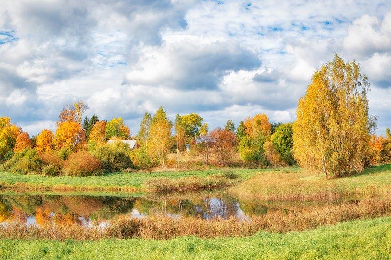 петровское, пушкинские горы, осень, пушкинские места Петровское, родовое имение Пушкиныхphoto preview