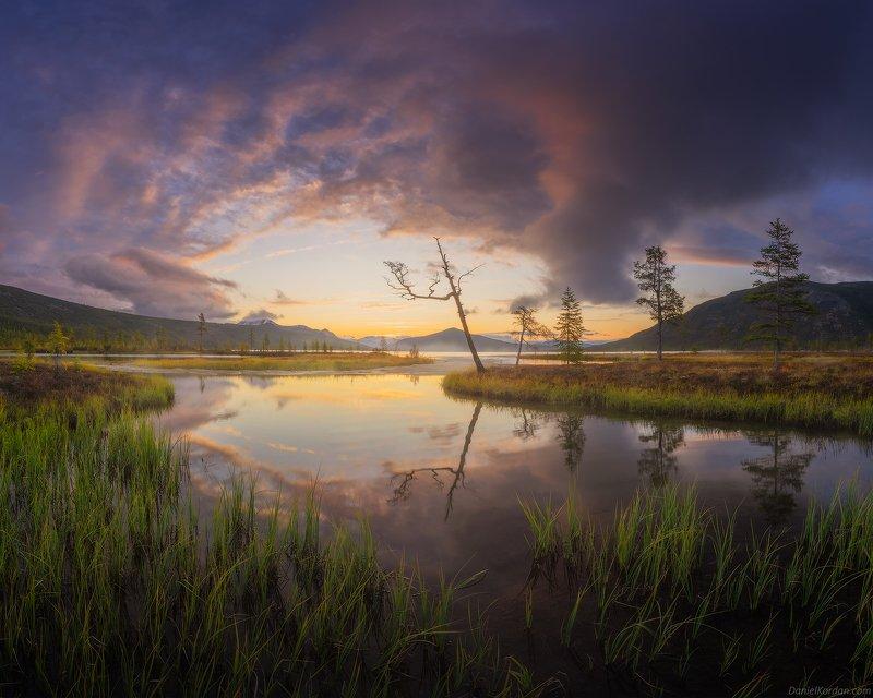 Колыма, озеро Джека Лондона Рассвет на Пургеphoto preview
