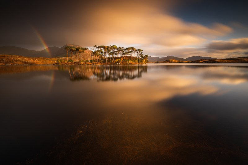sunrise, sunset, long exposure, longexposure, lake, landscapes, ireland, connemara Pine Islandphoto preview