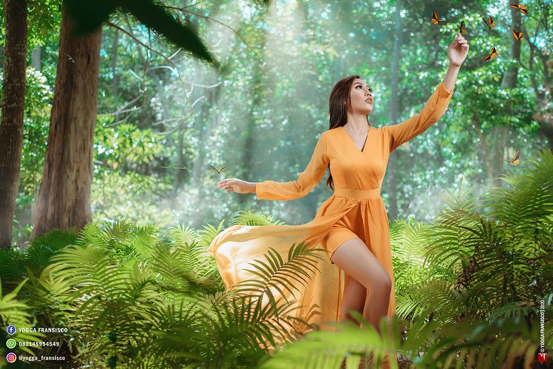 #portrait #female #beauty #portraitphoto #girl #mood #indonesian #fashion #forest #nature #butterfly Butterfly Girlphoto preview