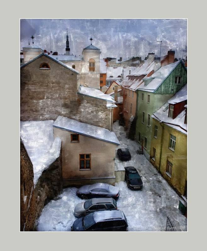город снежный Таллиннphoto preview