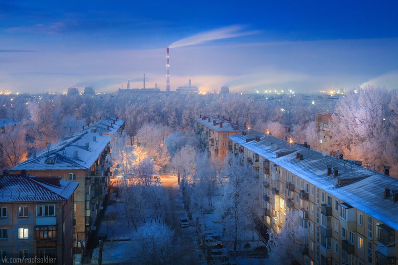 Омск, Россия, Сибирь, мороз, иней, пейзаж, город, omsk, russia, siberia, frost, frozen, city, cityscape, landscape, winter, snow, architecture Зима в Омскеphoto preview