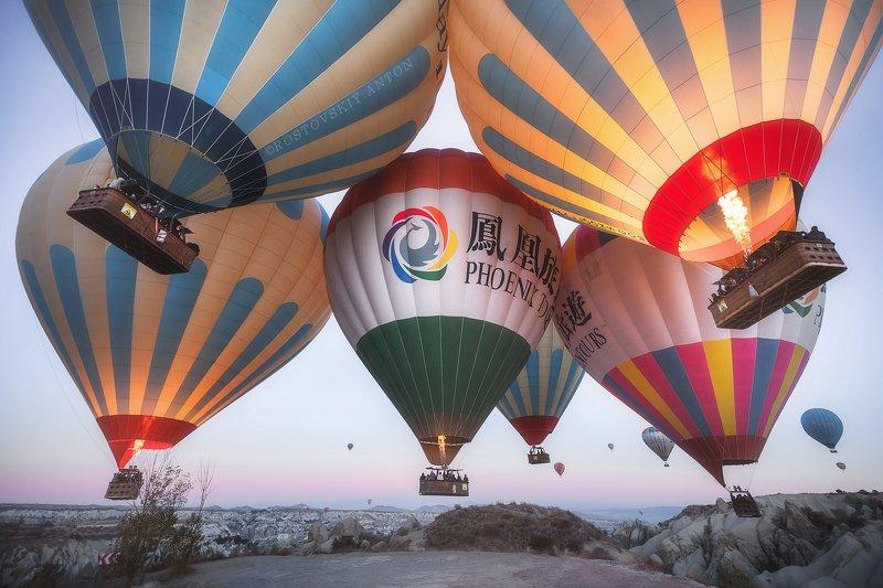Фототур, каппадокия, шары, Cappadocia, Турция,  Тесное утро (фототур в Каппадокию)photo preview