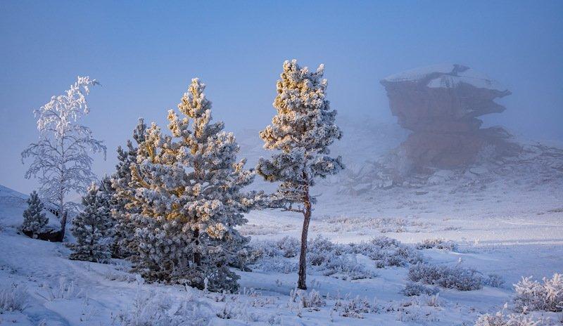 горы зима Утро в Баянаулеphoto preview