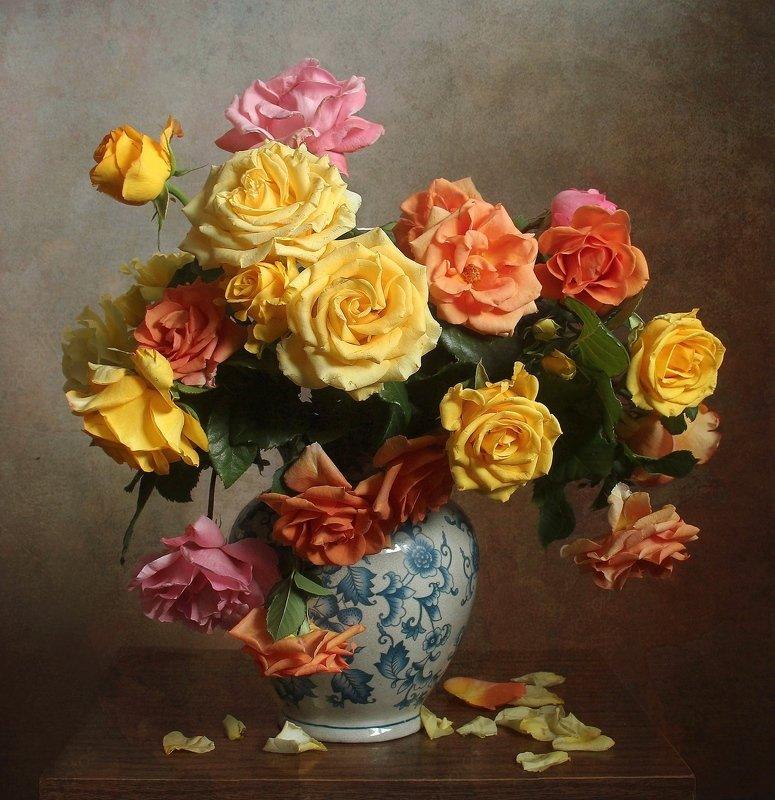 лето, розы, цветы, натюрморт, марина филатова Розыphoto preview