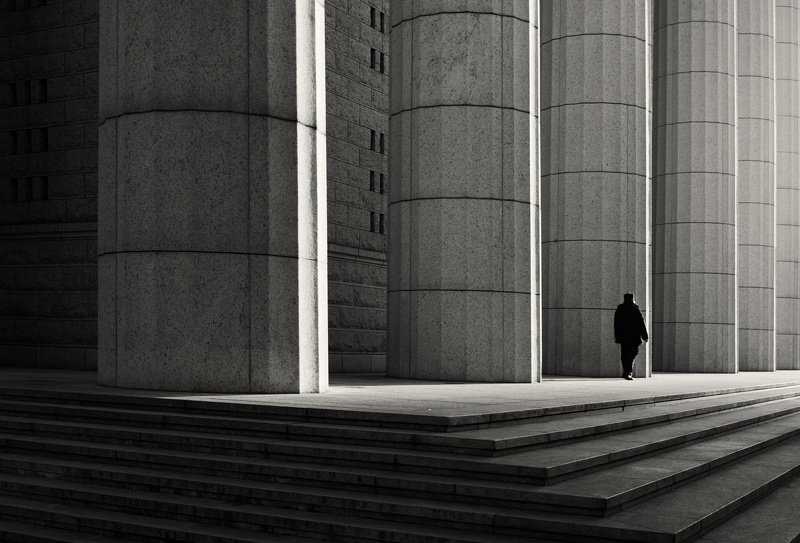 street photography , black and white photo preview