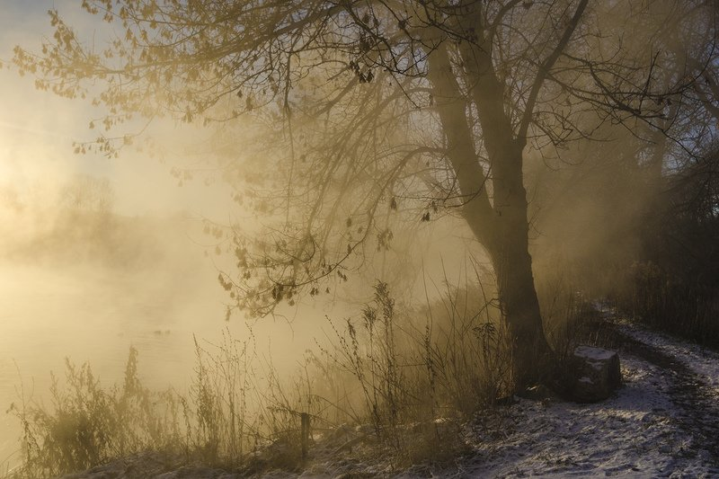 утро, рассвет, зима, озеро горячка, косая гора Начало зимы на Горячкеphoto preview