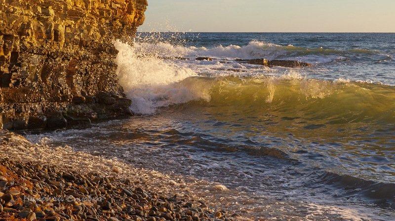 чёрное море прибой закат Прибойphoto preview