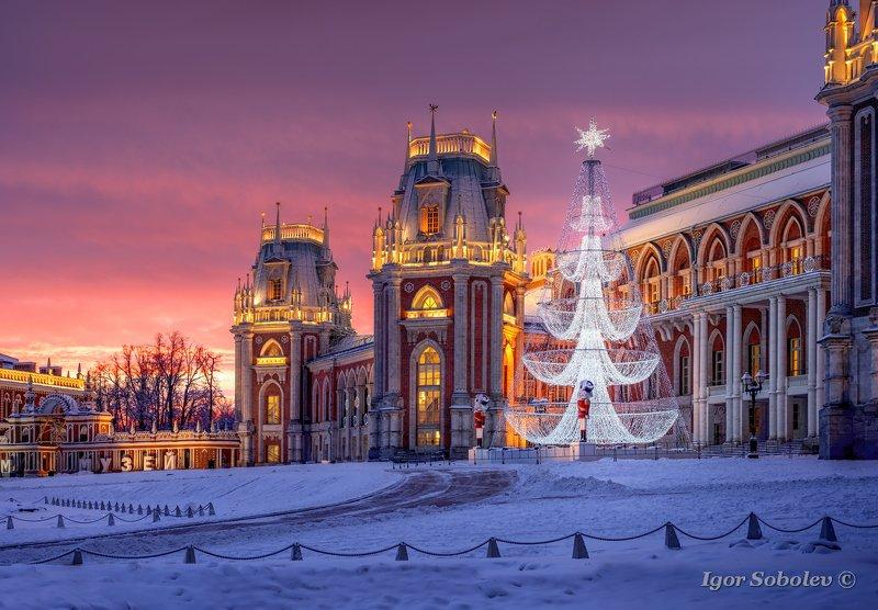 зима, царицыно, рассвет, москва Зимний рассвет в Царицыноphoto preview