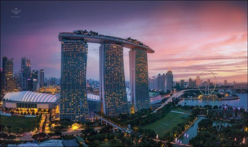 Сингапур, город, закат,  Вечерний Сингапур...photo preview