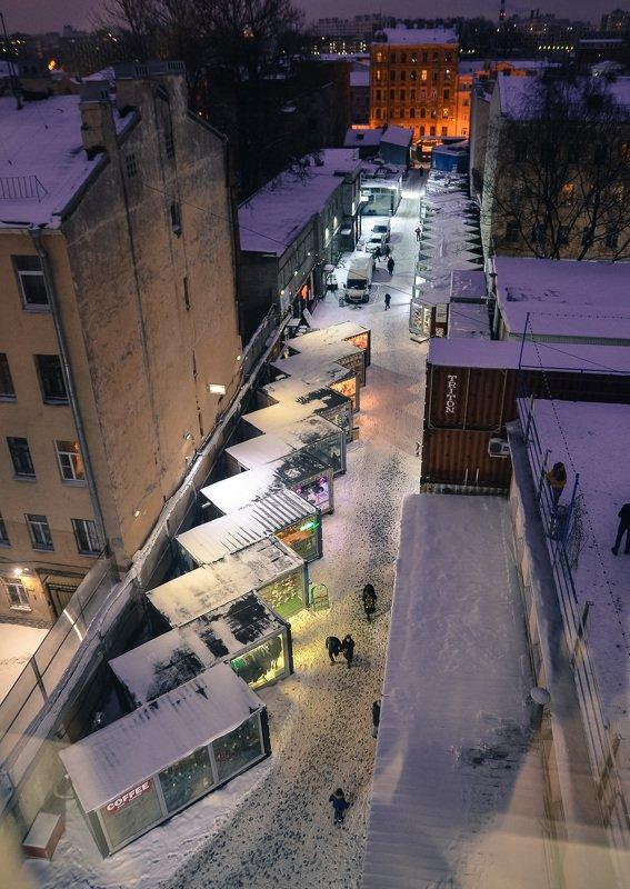 архитектура, город, улица, ночь, люди, питер Улица \