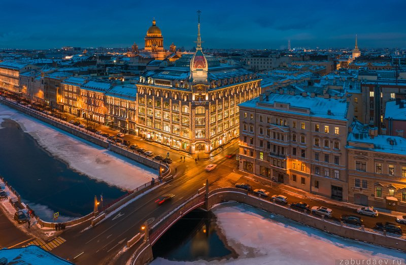 россия, петербург, зима Au pont rougephoto preview