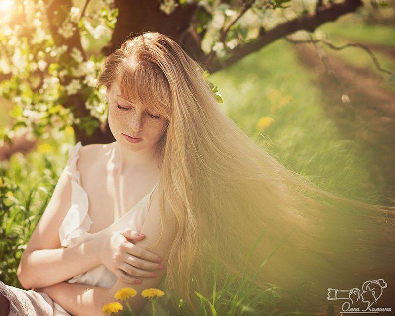 Весенний сад, Весенняя фотосессия, Весна, Девушка, Портрет, Цветущий сад Весенняяphoto preview