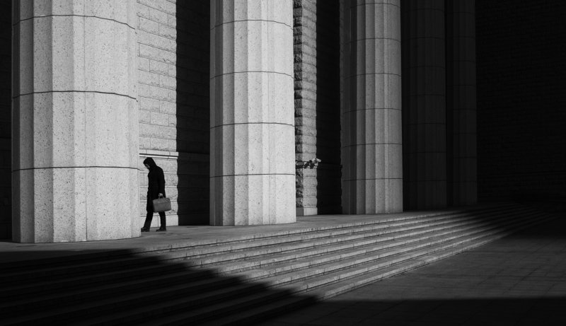 black and white , street photo preview