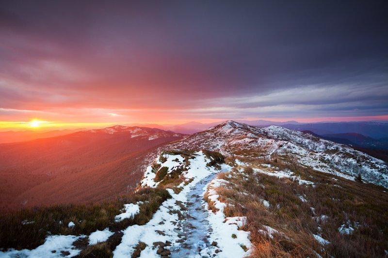 Bieszczady, mountains, sunrise, morning, color,  Bieszczady Mountainsphoto preview