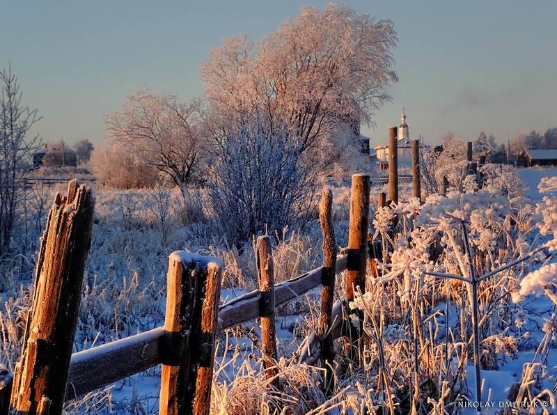 пейзаж мороз. Холмогоры. декабрьphoto preview