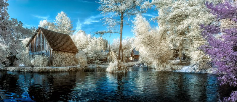 #infrared, #landscape, #rastoke In a fairy talephoto preview