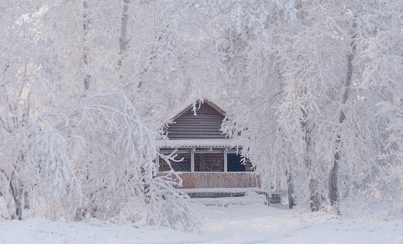 зима, берег енисея, мороз. Зимняя банька.photo preview