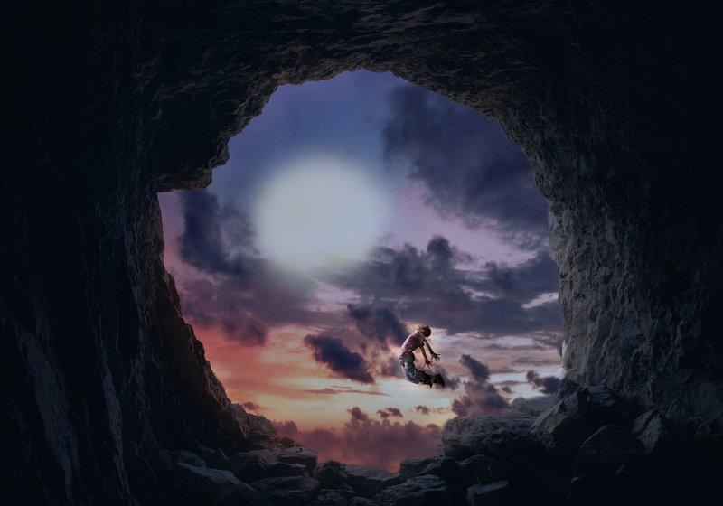 пещера, облака *****photo preview