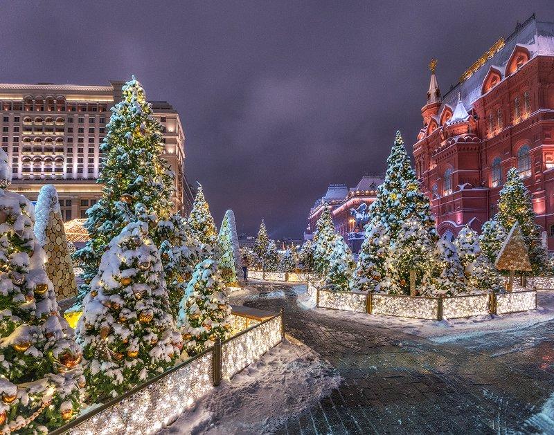 москва, новый год, манежная площадь. С Новым годом!!!photo preview