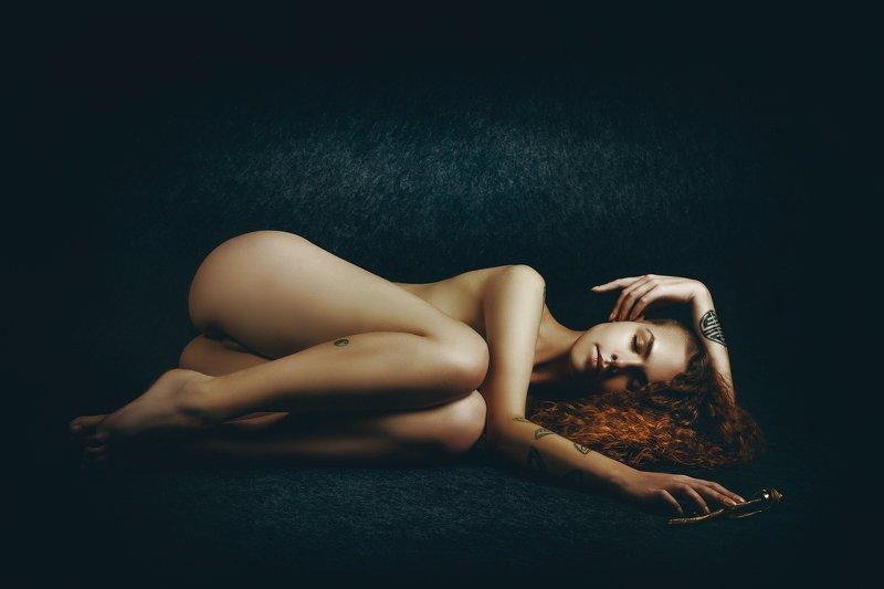 woman, portrait, nude, studio, beauty The Sleeping Rosephoto preview