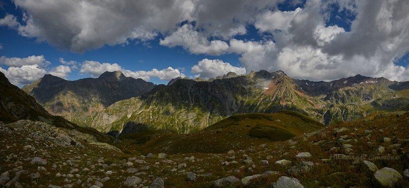 кавказ горы облака Горы Кавказаphoto preview