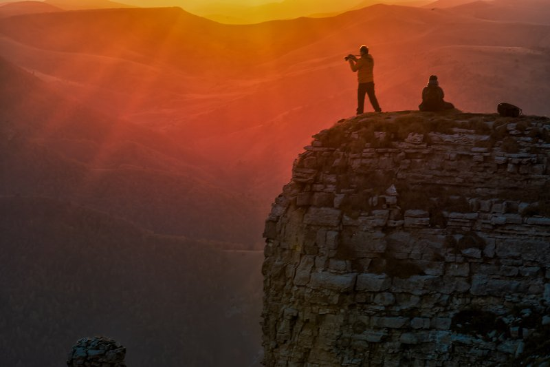 закат, кавказ, кабардино-балкария, бермамыт Прощание с солнцемphoto preview