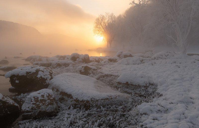 красноярск, мороз, сибирь. Сибирские морозы.photo preview