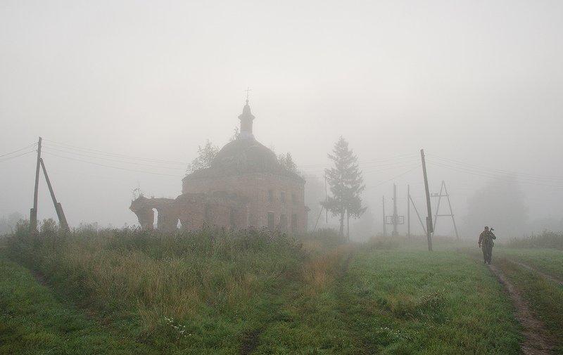 храм, церковь николая чудотворца, большие байдики Таинство туманных очертаний в цветеphoto preview