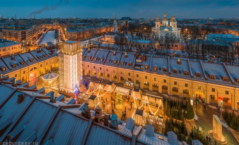 россия, петербург, зима, новый год Никольские рядыphoto preview