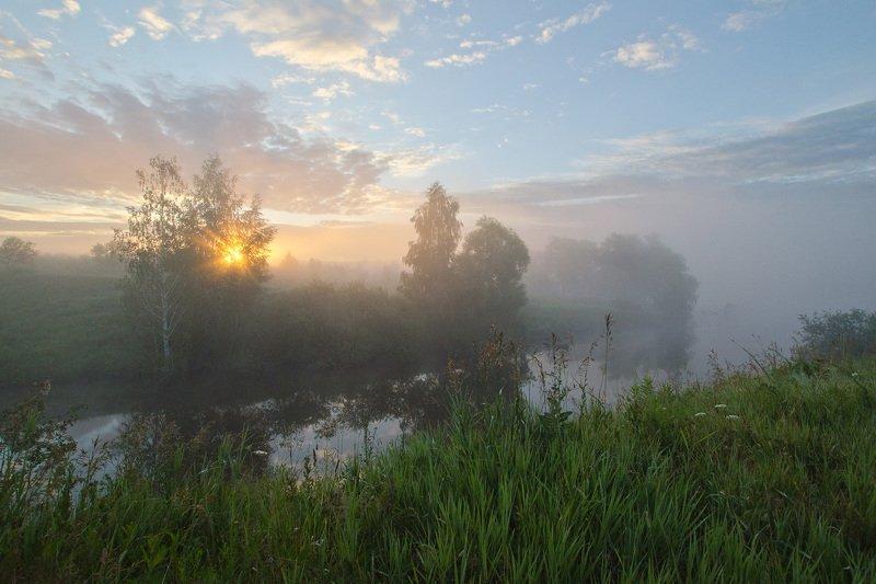 утро, рассвет, лето, большие байдики Рассвет над спящим водоёмомphoto preview