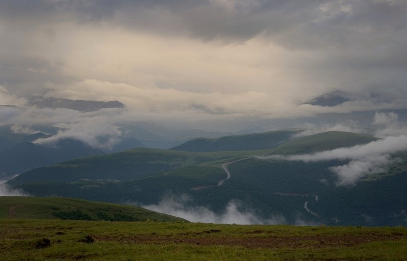 горы лето вечер Вечер в горахphoto preview