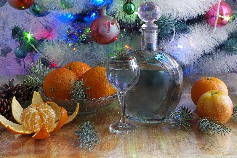 натюрморт ,рождество ,алкоголь ,вера павлухина , С Рождеством !photo preview