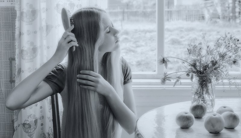 утро портрет девушка Утроphoto preview