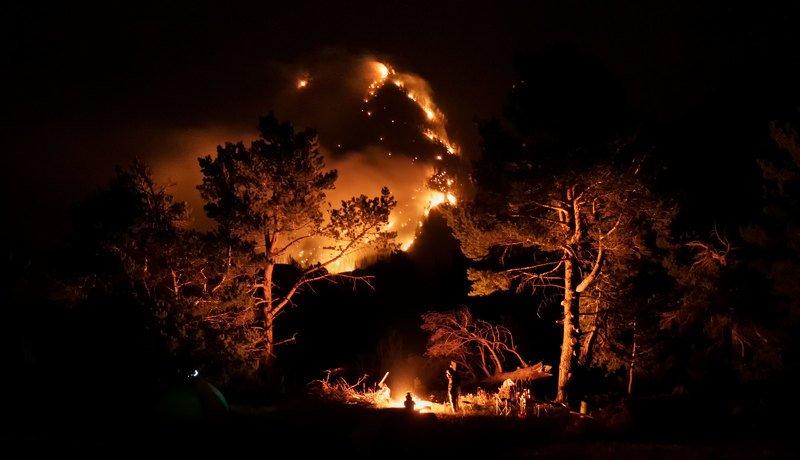 дагестан, ночная съёмка, горы, путешествия, россия, пейзаж, кавказ, valius Ночной пожарphoto preview